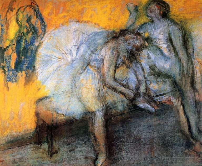 Degas two-dancers-in-yellow-and-pink 1910